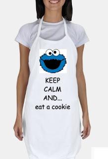 kurabiye canavarı beyaz mutfak önlüğü satın al