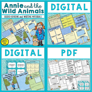 Annie and the Wild Animals is a children's book favorite. It is perfect for the perfect book for guided reading or as a mentor text. Check out this post for details of what's included in this unit bundle