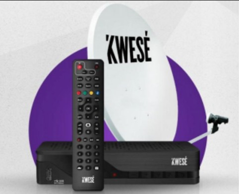 Kwesé Satellite Pay-as-You-Watch TV-decoder-and satellite dish