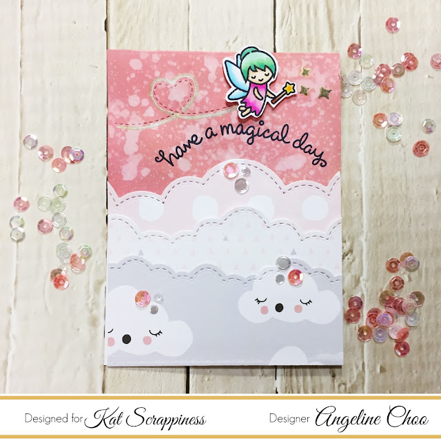 ScrappyScrappy: Magical Fairy card with Kat Scrappiness #scrappyscrappy #katscrappiness #lawnfawn #timholtz #diecut #oxideink #fairyfriends #puffyclouds #cratepaper #littleyou #stitchedtrails #card #cardmaking #craft #crafting #scrapbooking #stamp #stamping #sequin
