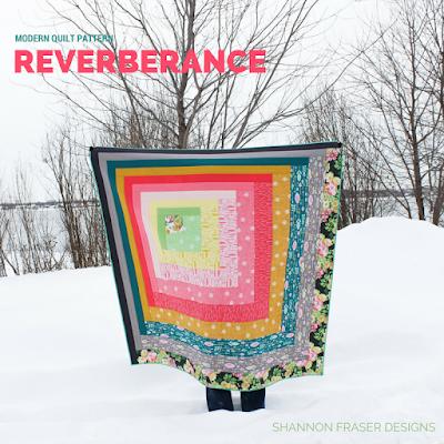 Reverberance Quilt Pattern | Shannon Fraser Designs | Modern Quilt Pattern