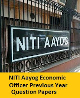 NITI Aayog Economic Officer Previous Year Question Papers