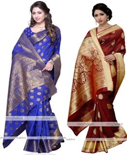 indian designer silk saree