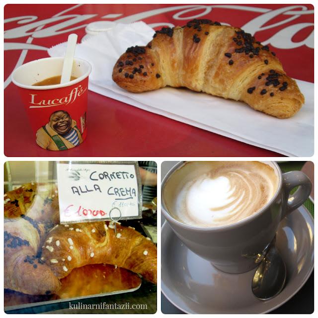 Капучино и кроасани в Милано