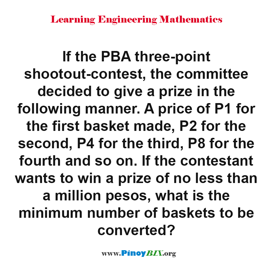 What is the minimum number of baskets to be converted?