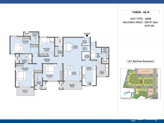 L&T Raintree Boulevard Floor Plan