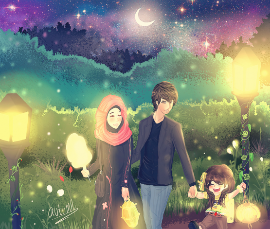 Infokini Koleksi Gambar Kartun Ana Muslim Dan Muslimah