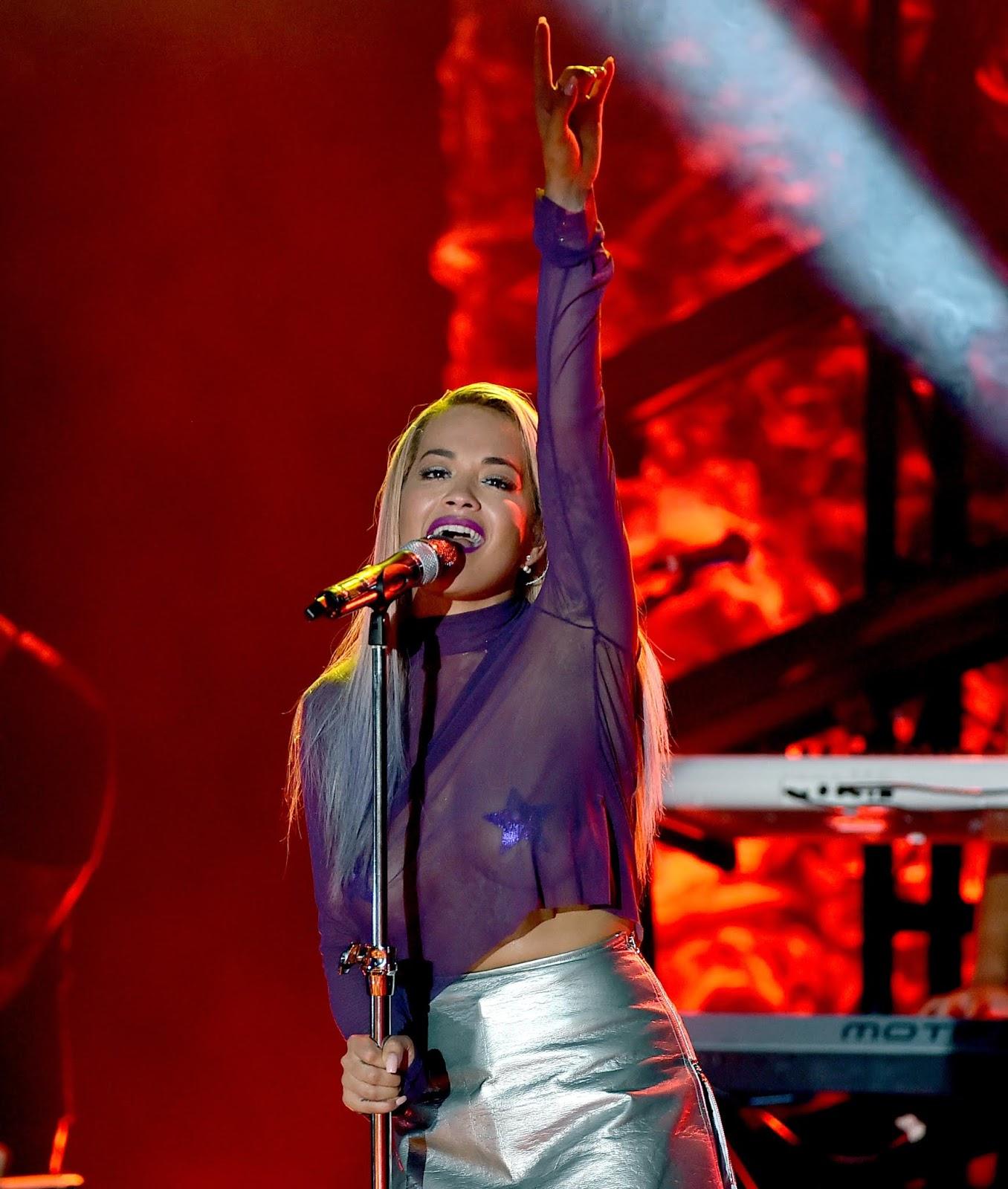 Rita Ora Braless - U.S. Tour: The El Rey, Los Angeles - 08/26/2015