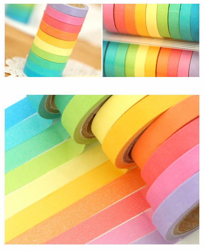 Bright colourful tapes - - Part of the big list of Washi Tape Stores On Etsy