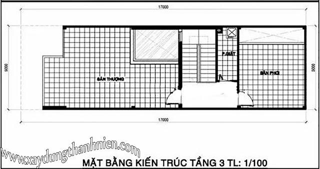 Mẫu Nhà Ống 2 Tầng Diện Tích 5x17m 3 Phòng Ngủ