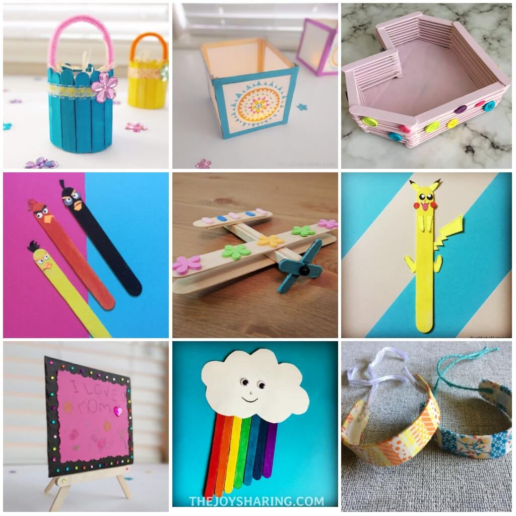 Ice cream stick craft ideas for kids