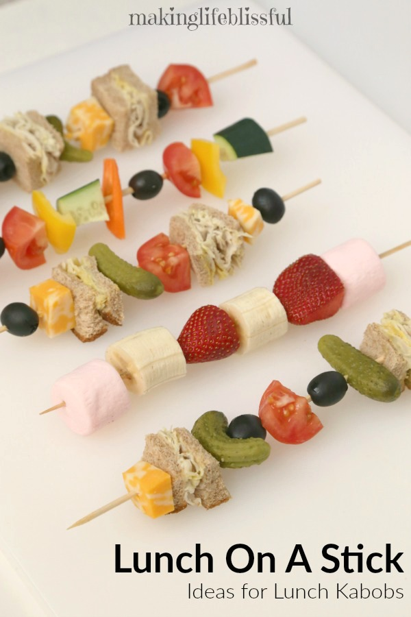 Lunch on a stick lunch kabob ideas making life blissful you never know when youll need some lunch kabob ideas including some sweet treats from sharis berries forumfinder Gallery