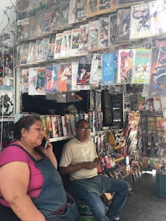 Photo of a Mexican comic shop