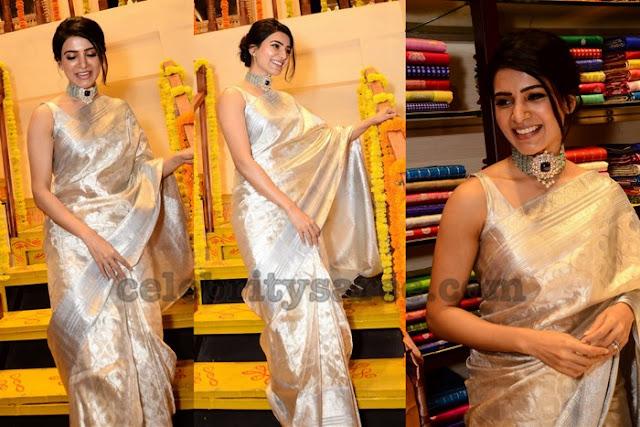 Samantha Off White Bridal Saree