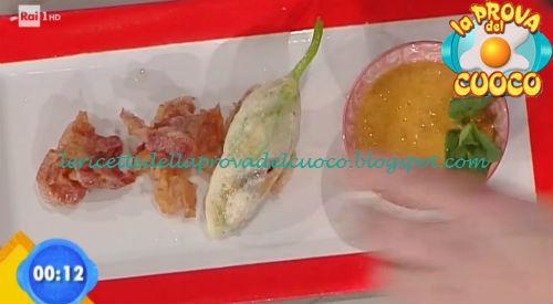 Fiori di zucca al primo sale con coulis di pomodoro e menta ricetta Fava da Prova del Cuoco