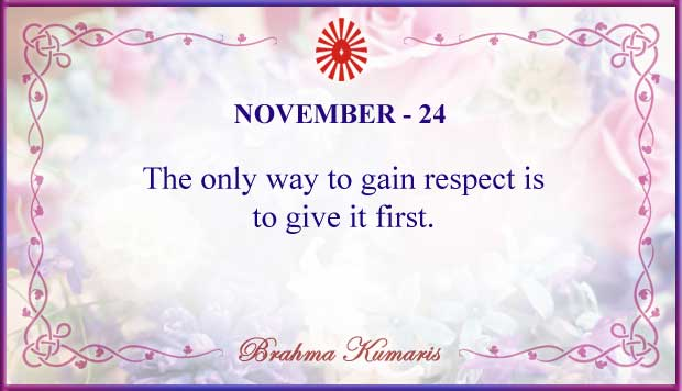 Thought For The Day November 24