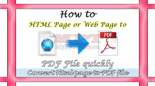 Learn how to Convert HTML page to PDF File