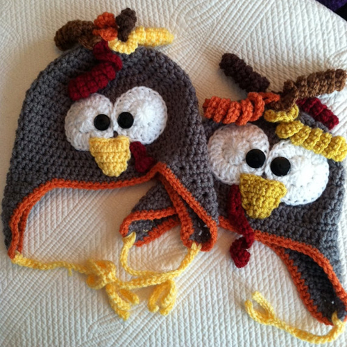 Turkey Earflap Hat - Free Pattern
