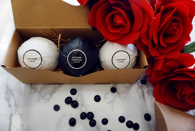 THE CHARCOAL ACTIVATED BATH BOMBS BY CHARBON NOIR COSMETICS