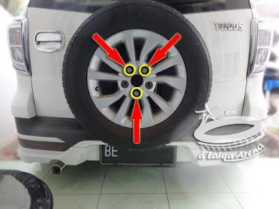 pasang kembali roda