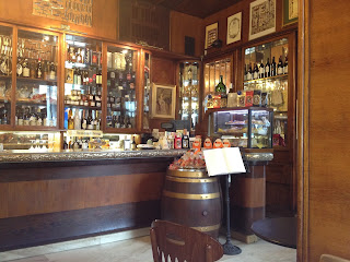 Inside one of Trieste's typical cafés