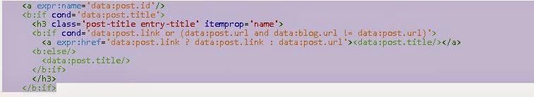 optimize blogger title