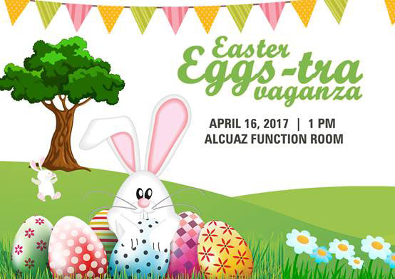 Eggciting easter events 2017 mommy joys marriage motherhood life activities games and activities magic and balloon show special gifts an exclusive loot bag and merienda buffet easter egg hunt negle Image collections