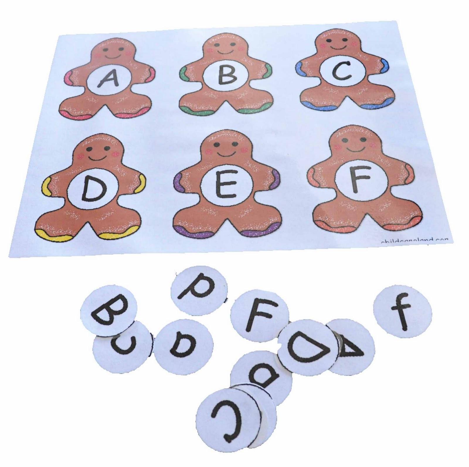 Children S Learning Activities Gingerbread Alphabet