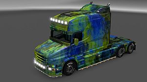 Abstract paint for Scania T