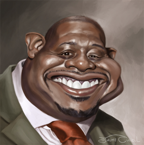 """""""Forest Whitaker"""" por Jaume Cullell"""