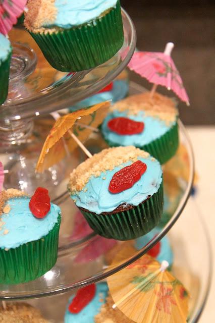 Beach Themed Cupcakes
