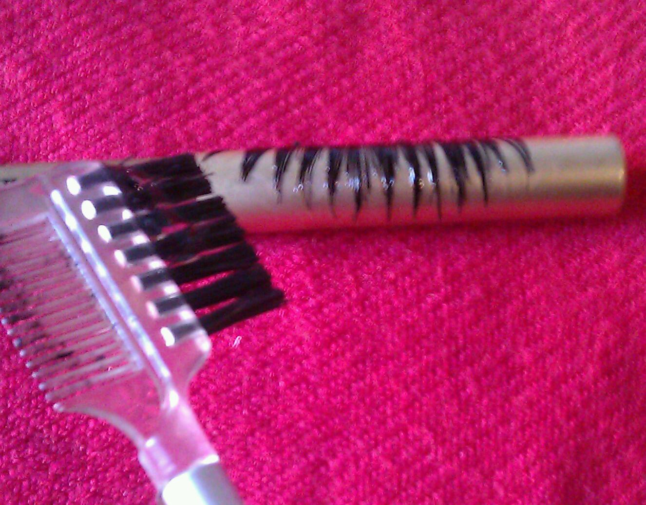 a83900e4358 Next wrap your lashes around any old eyeliner you have and use the brow  brush and a dab of hair gel to brush through the lashes and straighten out  the ...