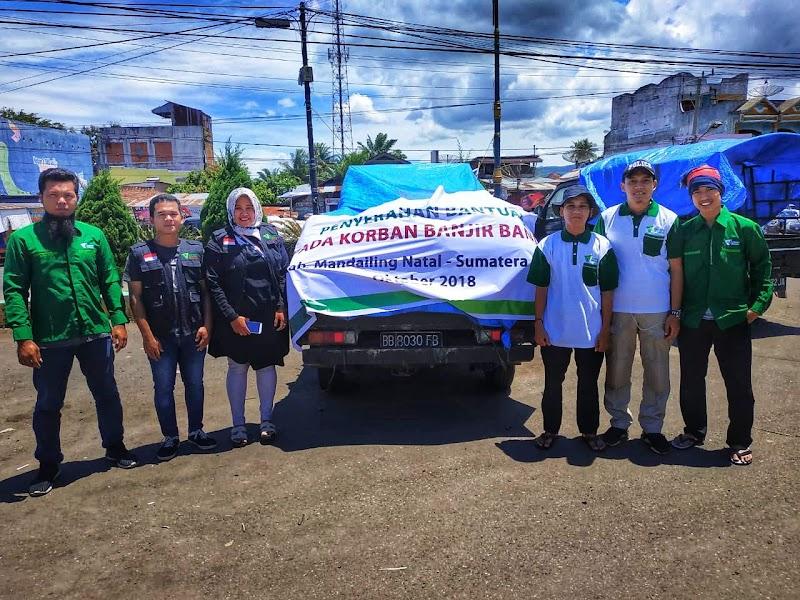 Tim Dompet Dhuafa Sumut Menurunkan Volunteer Membantu Penanggulangan Bencana di Mandailing Natal