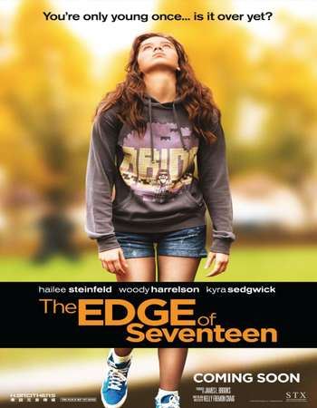 Poster Of The Edge of Seventeen 2016 English 450MB BluRay 720p ESubs HEVC Free Download Watch Online downloadhub.in