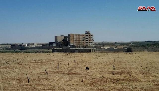 الجيش السوري يستعيد بلدة غرز وصوامعها جنوب شرق درعا.
