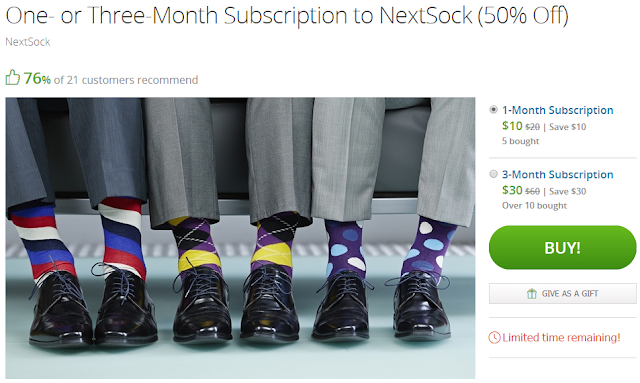 groupon deal next socks