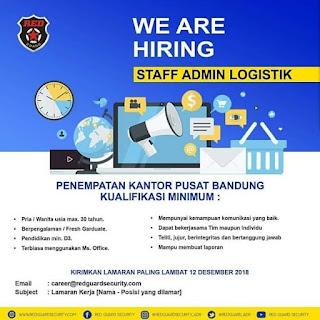Lowongan Kerja Red Guard Security Bandung 2020 Terbaru