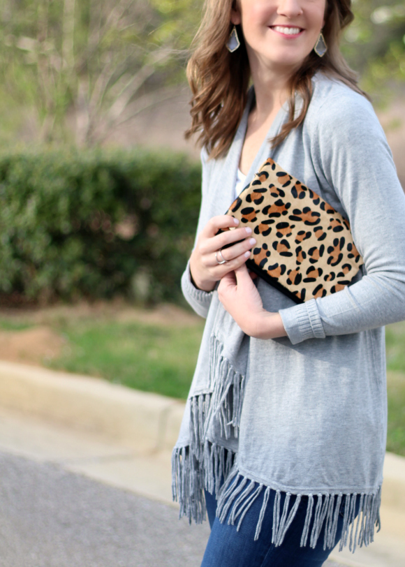 Stitch Fix March Juno Calf Hair Clutch