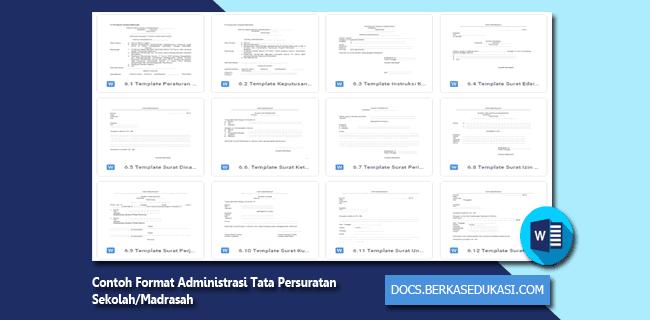 Contoh Format Administrasi Tata Persuratan Sekolah/Madrasah