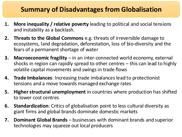 the impact of globalization on poor countries (the same is true for low-wage workers in the us, although the effects of  globalization on rich countries are beyond the scope of this article).