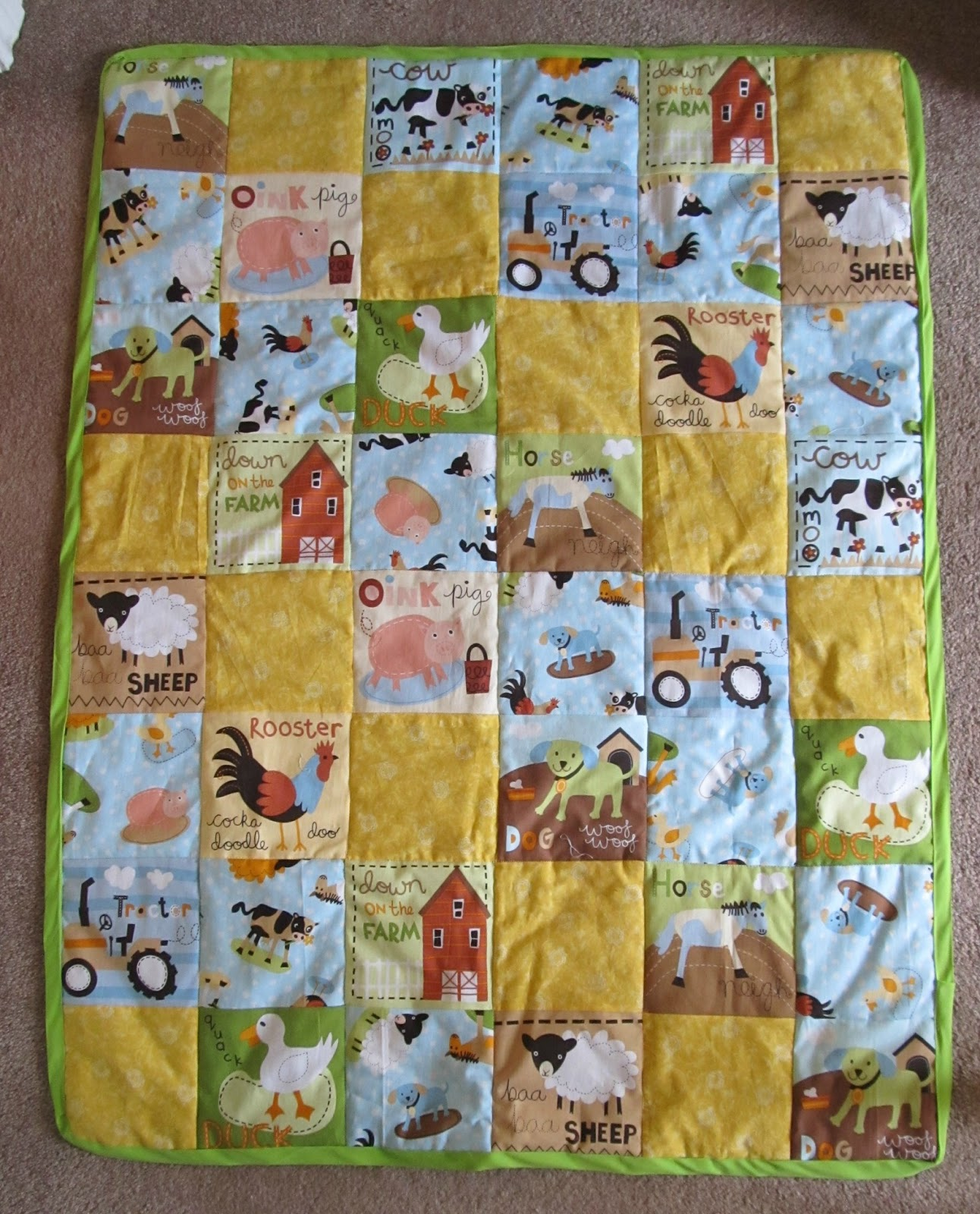 Queen B - Creative Me: A Down on the Farm Baby Quilt