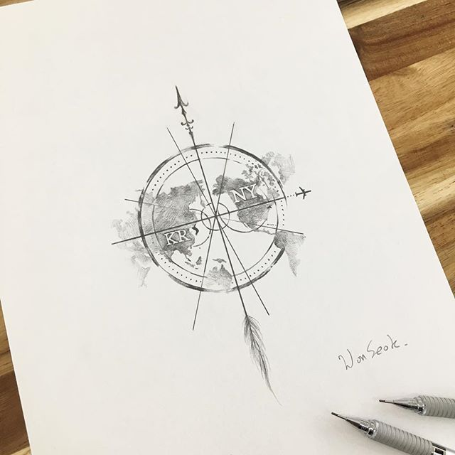 earth tattoo design for men