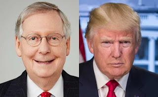U.S. Senator Mitch McConnell and President Trump