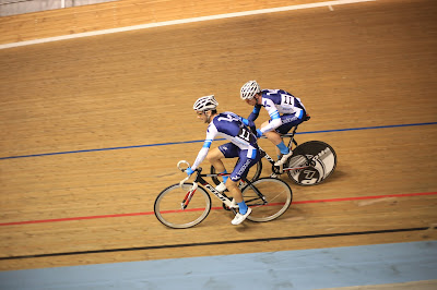 Track cycling sling at Madison of Melbourne