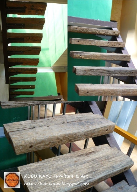 Kubu Kayu Furniture Amp Art Recycled Railway Sleepers Stairs