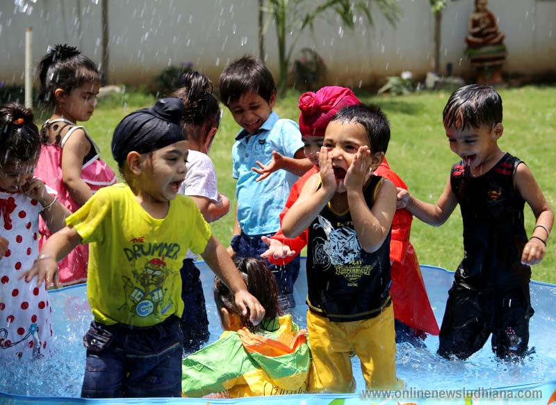 Children enjoying during the Rain Dance party at Cherubs The Preschool