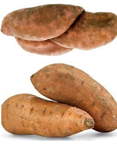 Sweet potato vegetable rich food in carbohydrates: