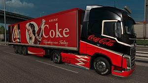 Coca Cola Volvo skin and trailer