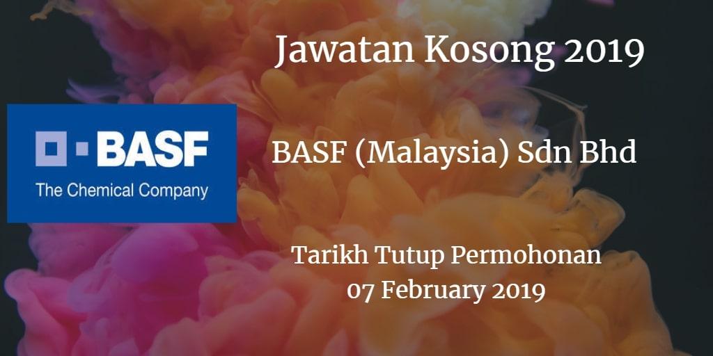 Jawatan Kosong BASF (Malaysia) Sdn Bhd  07 February 2019