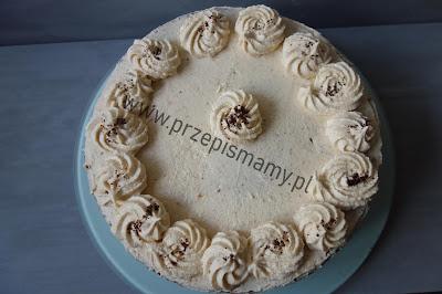 Tort kawowy z kremem serowym